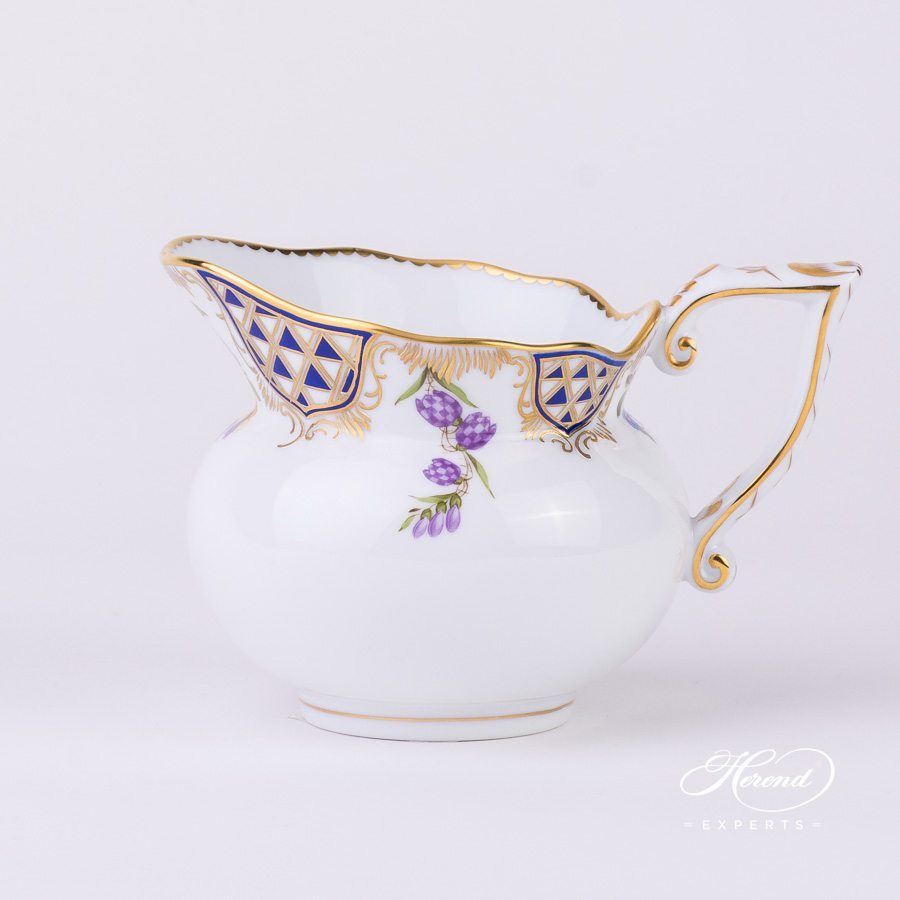 Creamer 20644-0-00 MTFC Mosaic and Flowers decor. Herend porcelain tableware. Hand painted