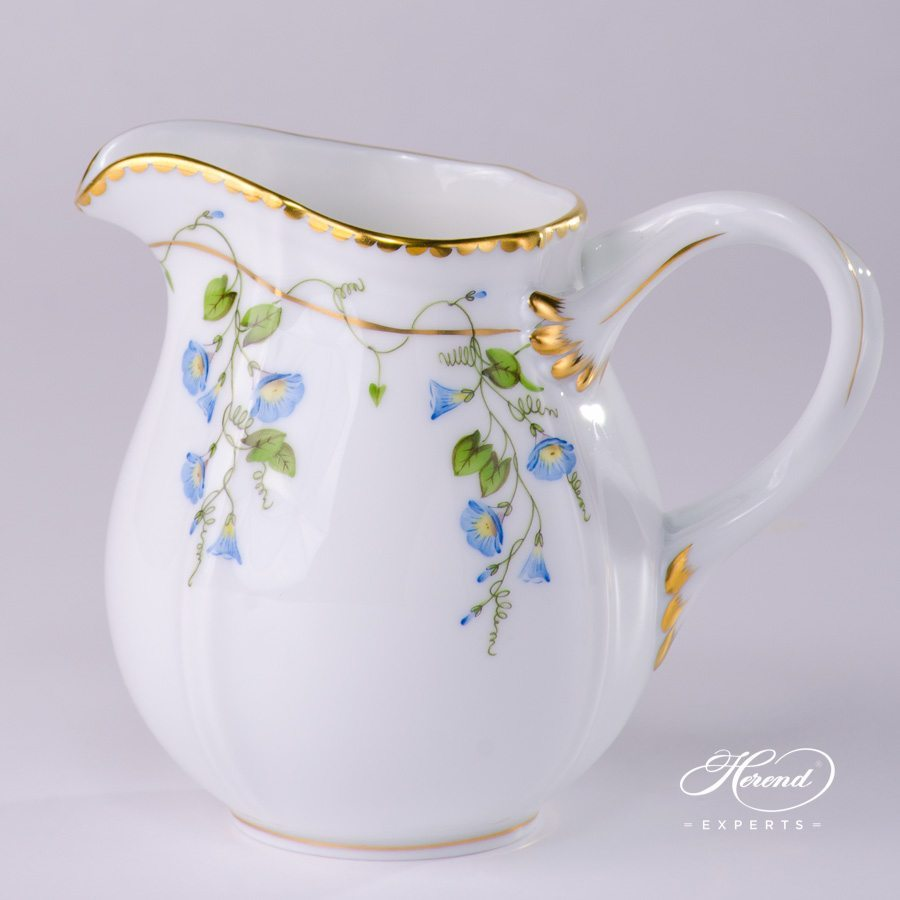 Creamer 4245-0-00 NY Nyon - Morning Glory pattern - Herend porcelain hand painted.