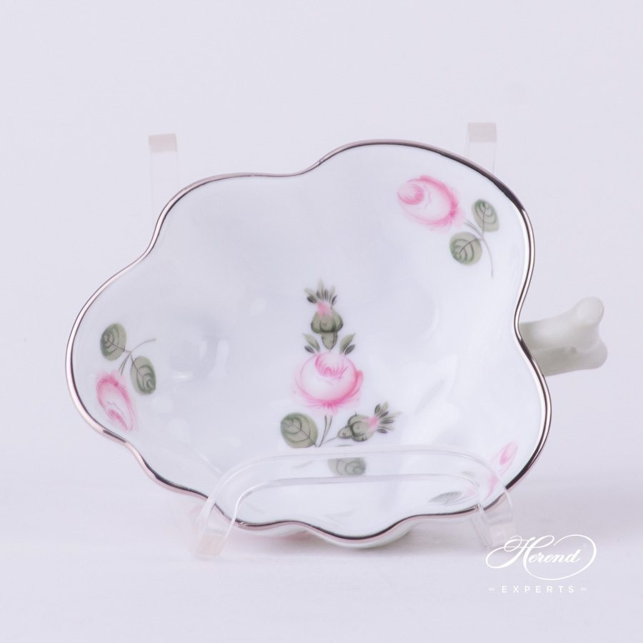 Sugar Bowl 492-0-00 VR-PT Vienna Rose Platinum pattern - Herend porcelain hand painted.