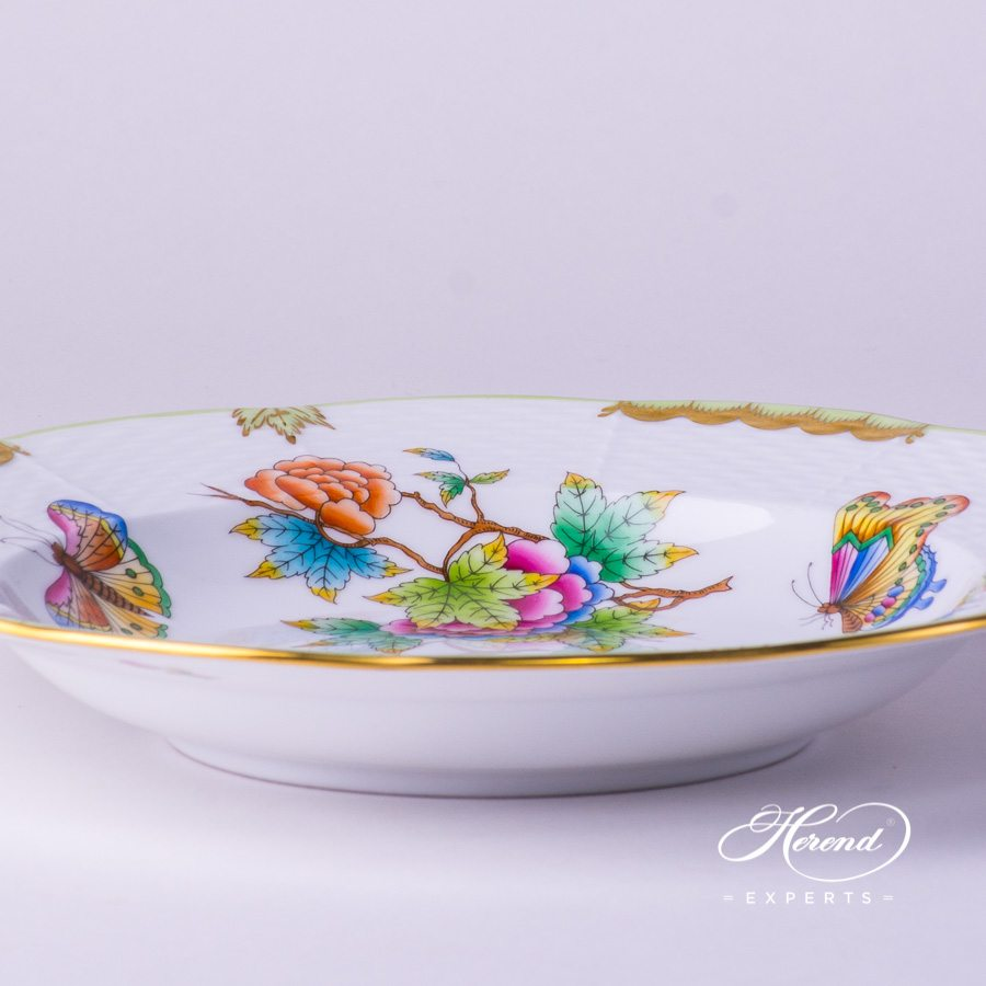 Soup Plate 504-0-00 VBO Queen Victoria decor. Herend porcelain tableware. Hand painted