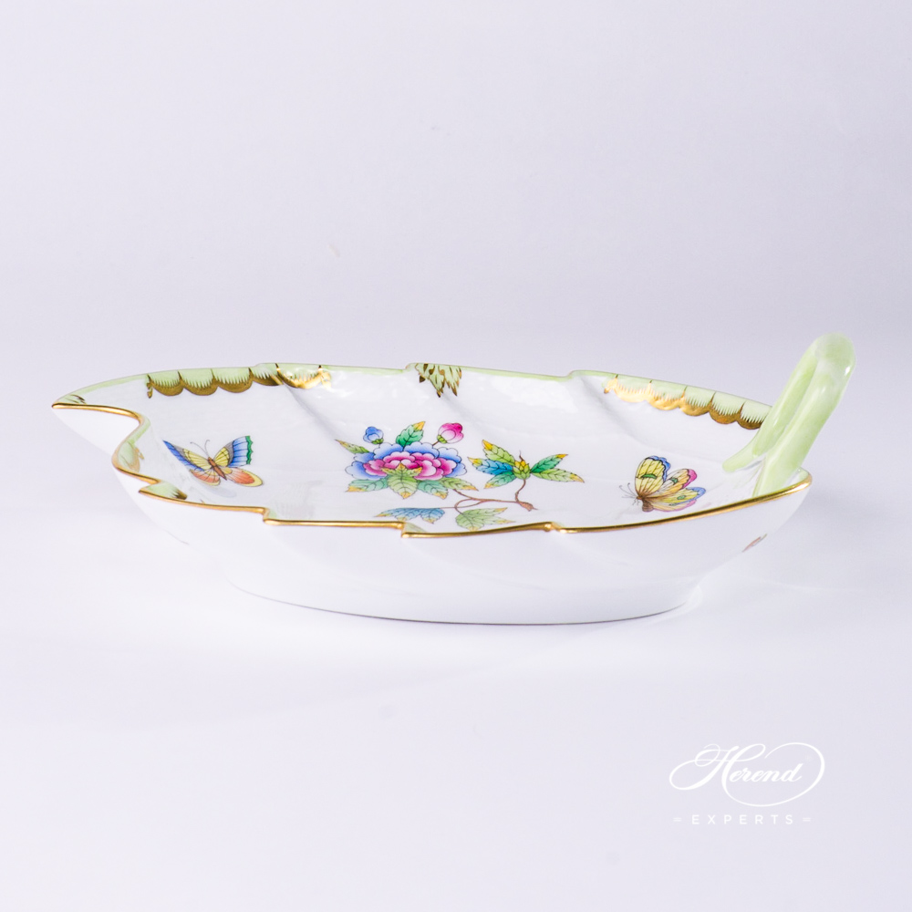 Leaf Dish Queen Victoria VBO pattern - Herend porcelain hand painted.