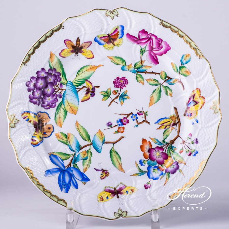 Big Serving Plate / Round Dish 1152-0-00 VICTORIA - Old Queen VICTORIA decor. Herend porcelain hand painted