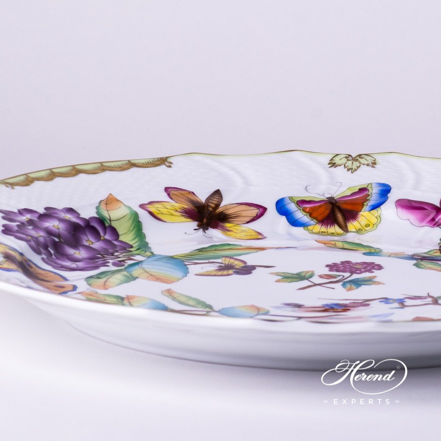 Big Serving Plate / Round Dish 1152-0-00 VICTORIA - Herend Old Queen VICTORIA design. Herend fine china