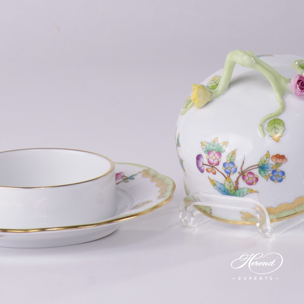 Butter Dish Queen Victoria VBO pattern - Herend porcelain.