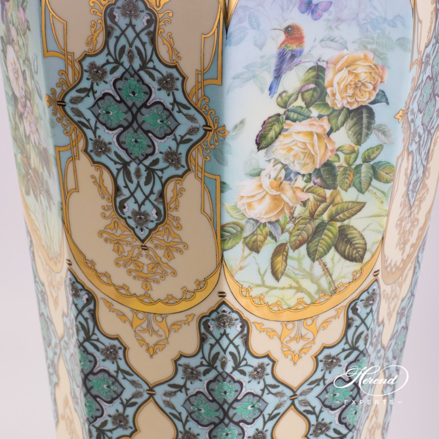Large Vase 6576-0-15 SP876 Special Rose Flower pattern. Herend fine china