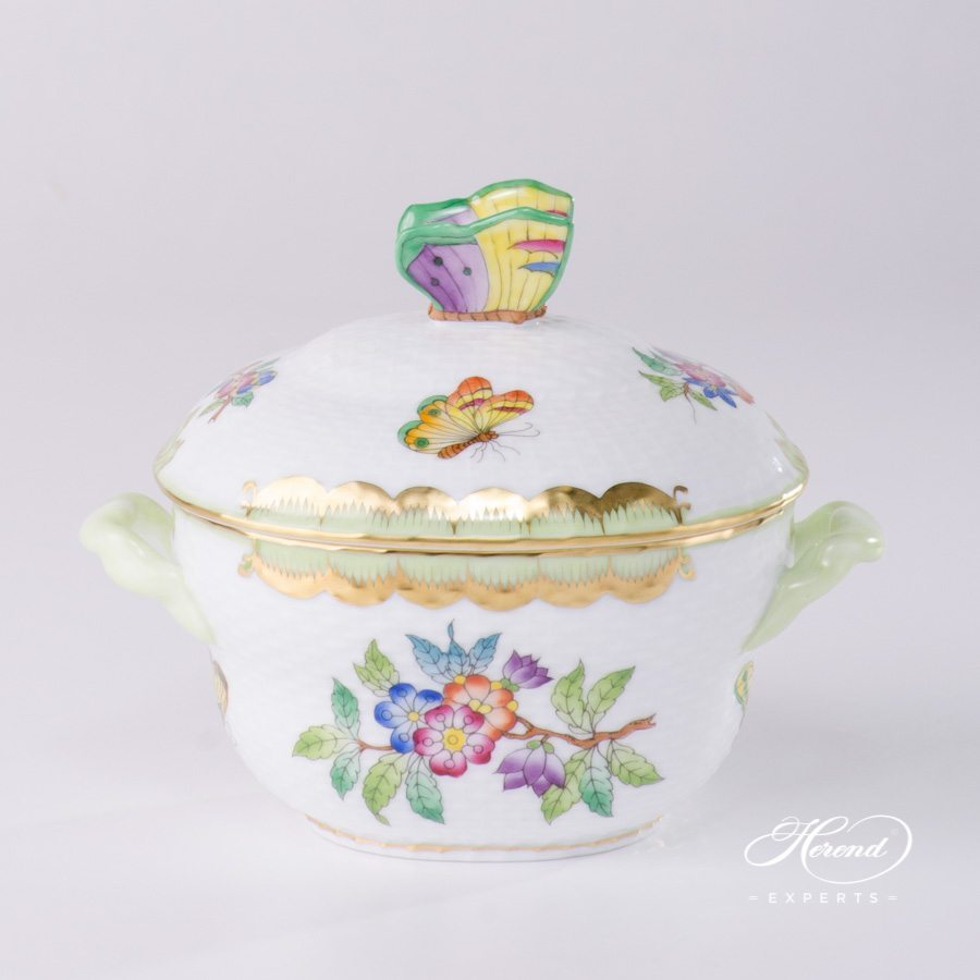 Sugar Basin and Bonbonniere Queen Victoria VBA pattern - Herend porcelain.