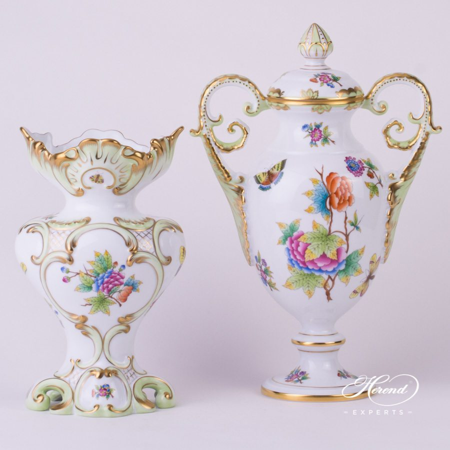 Fancy Vase 6531-0-00 VBO Queen Victoria design. Herend fine china hand painted. Ornaments
