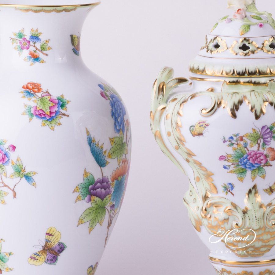 Queen Victoria - VBO pattern Fancy Vase - Herend porcelain.