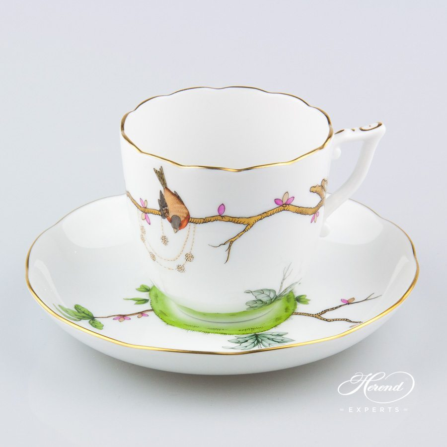 Coffee Cup / Cappuccino Cup w. Saucer 20706-0-00 REJA Dream Garden pattern. Herend fine china
