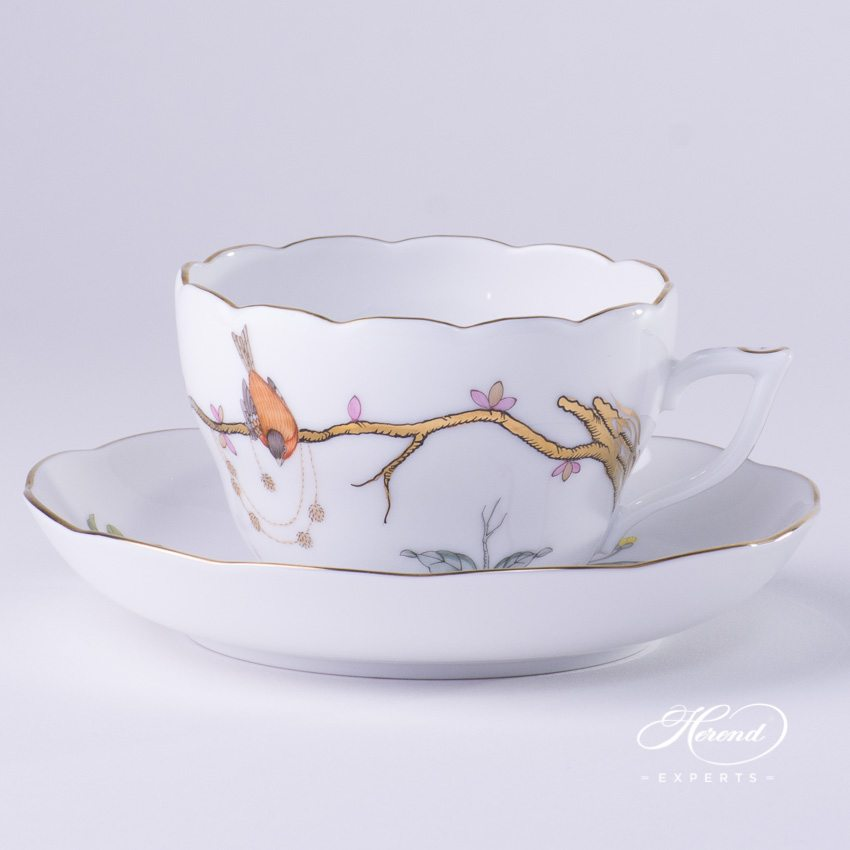 Tea / Coffee Cup w. Saucer 20730-0-00 REJA Dream Garden pattern. Herend fine china