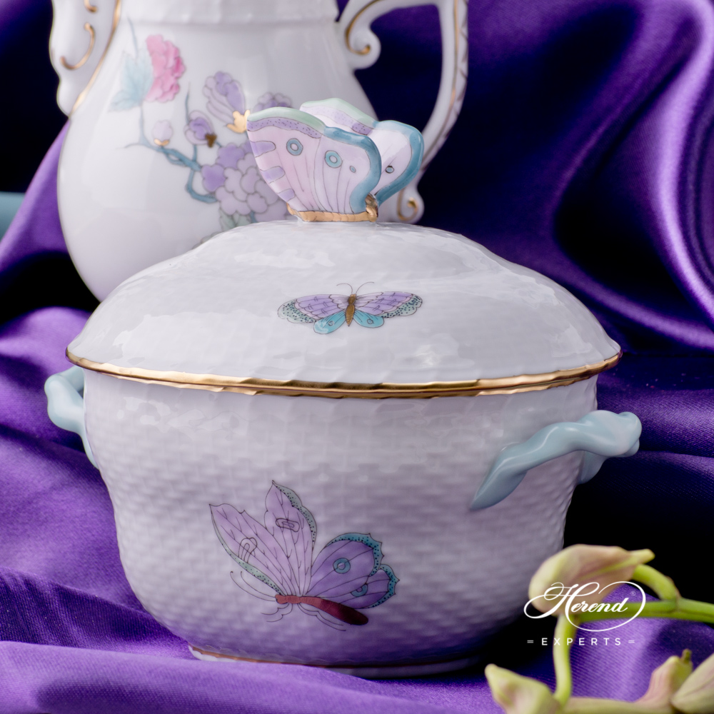 Coffee Set for 2 Persons - Herend Royal Garden EVICT2 design. Herend fine china tableware. Hand painted