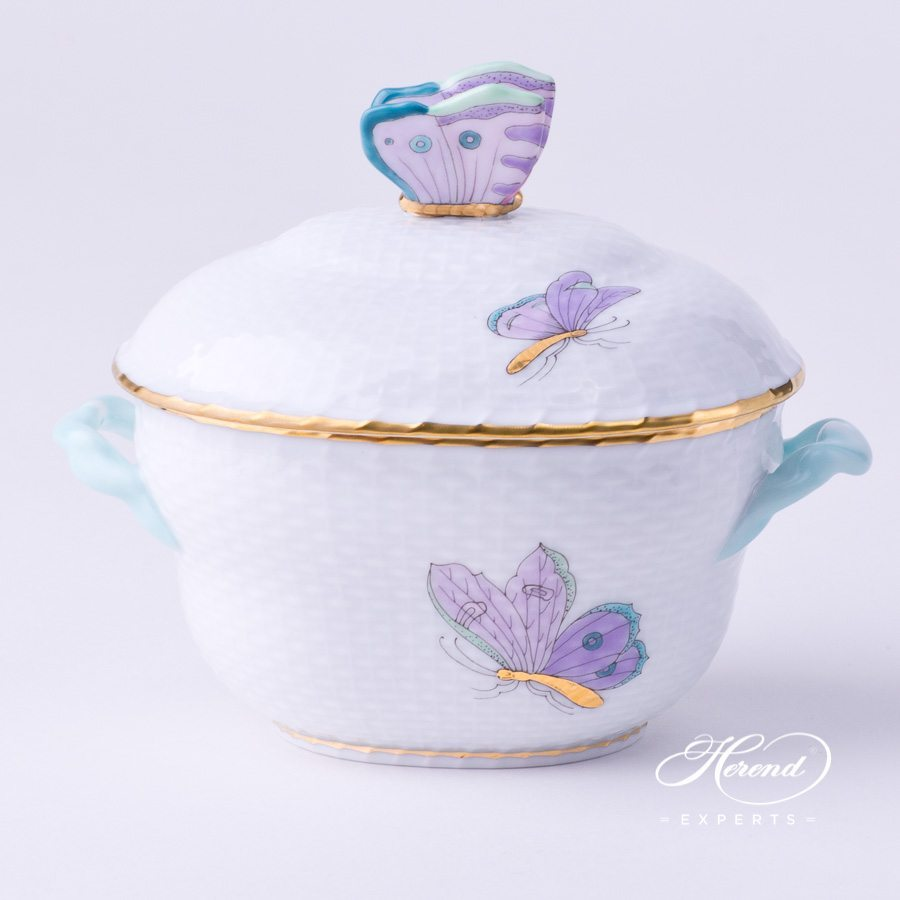 Sugar Basin 6012-0-17 EVICTP2 Royal Garden turquoise pattern - Herend fine china.