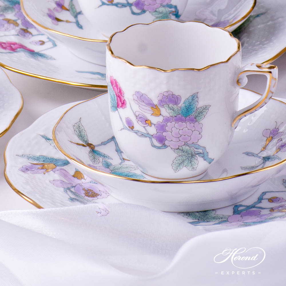 Coffee Set / Espresso Setfor6 Persons- HerendRoyal Garden EVICT2 Turquoisepattern. Herend fine china