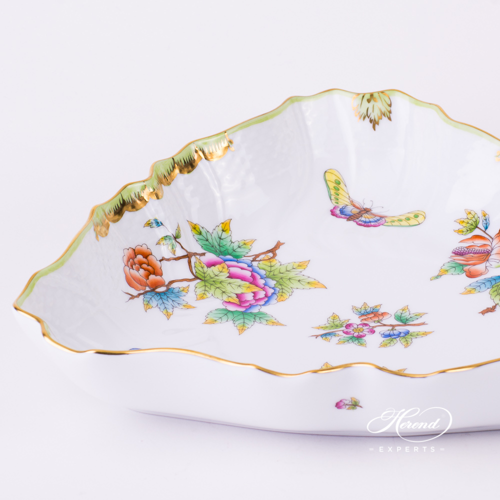 Salad Dish 1191-0-00 VBO multicolour - Herend fine china. Queen Victoria pattern Dinner set.