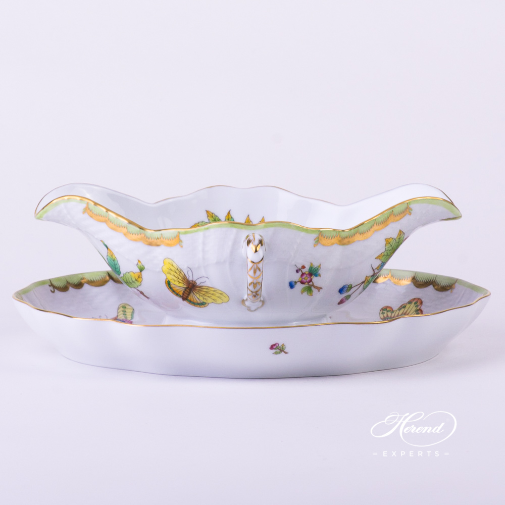 Sauce Boat with Oval Dish 1220-0-00 VBO multicolour - Herend fine china.