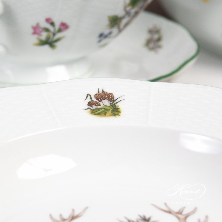 Dinner Set for 6 People - Herend Forest Animals CHTM design. Herend fine china