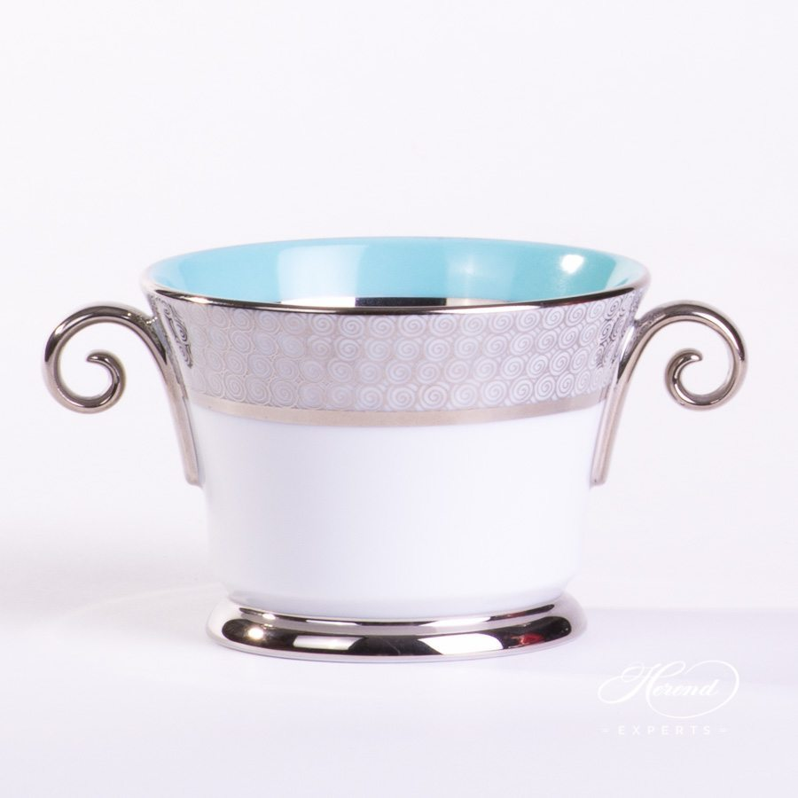 Universal Cup 4919-0-00 ORIENTTQ-PT Orient Turquoise decor. Herend porcelain tableware. Hand painted