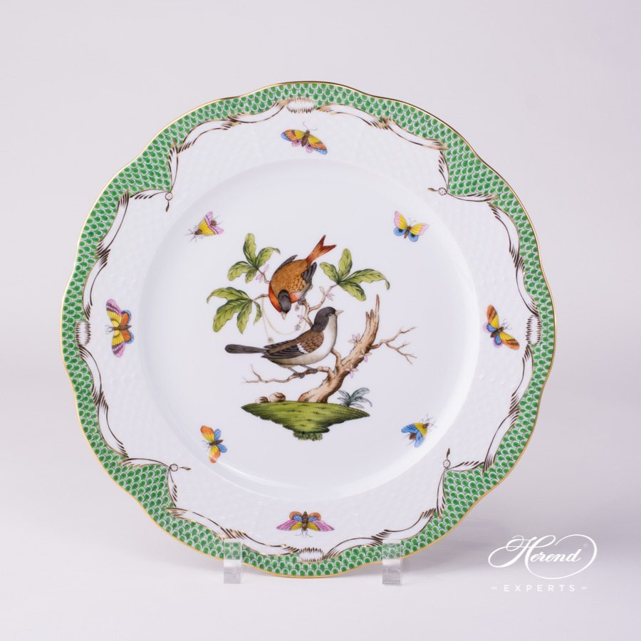 Rothschild Bird green fishnet Serving Plate Herend porcelain.