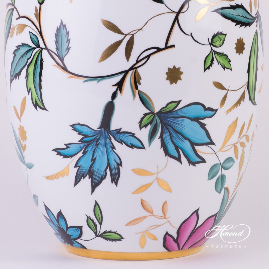 Vase big Art Deco 7007-0-00 SP837 Special pattern - Herend porcelain hand painted.