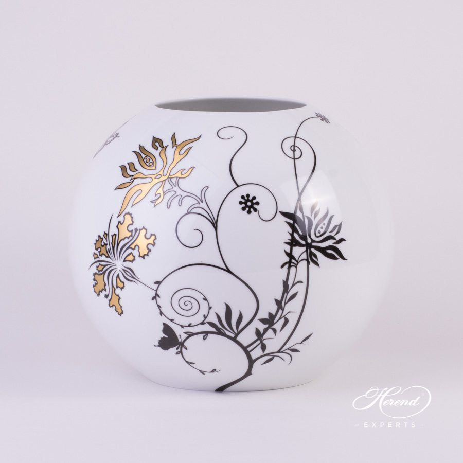 Vase Hibiscus 7005-0-00 MXHIB pattern - Herend porcelain hand painted.