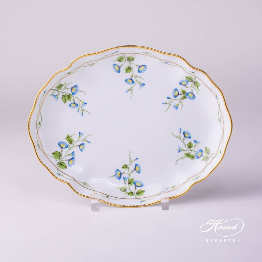 Oval Dish 2211-0-00 NY Nyon - Morning Glory pattern - Herend porcelain hand painted.