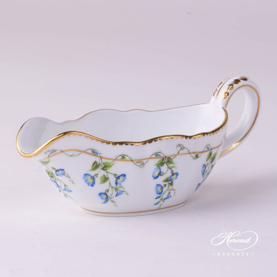 Sauce Boat 20218-0-00 NY Nyon - Morning Glory pattern - Herend porcelain hand painted.