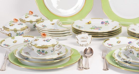 Dinner Set for 6 Persons \u2013 Queen Victoria VBA & Dinner Sets | Herend Experts