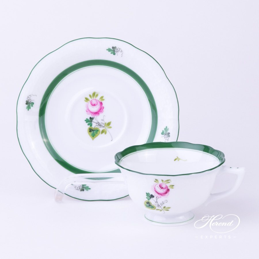 Mocha or Espresso Cup 735-0-00 VRH Vienna Rose green pattern - Herend porcelain hand painted.