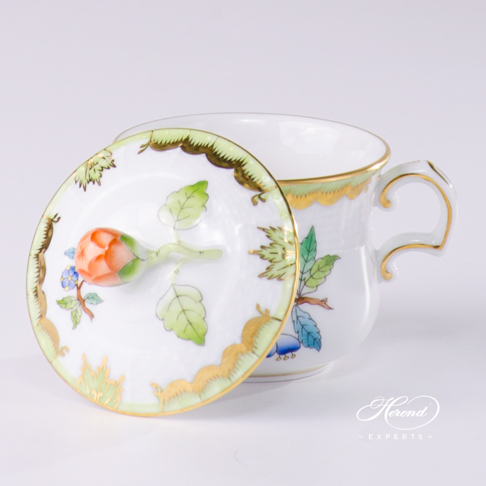 Cream Cup w. Bud Knob 385-0-12 VBA Queen Victoria pattern. Herend fine china hand painted. Classical style tableware