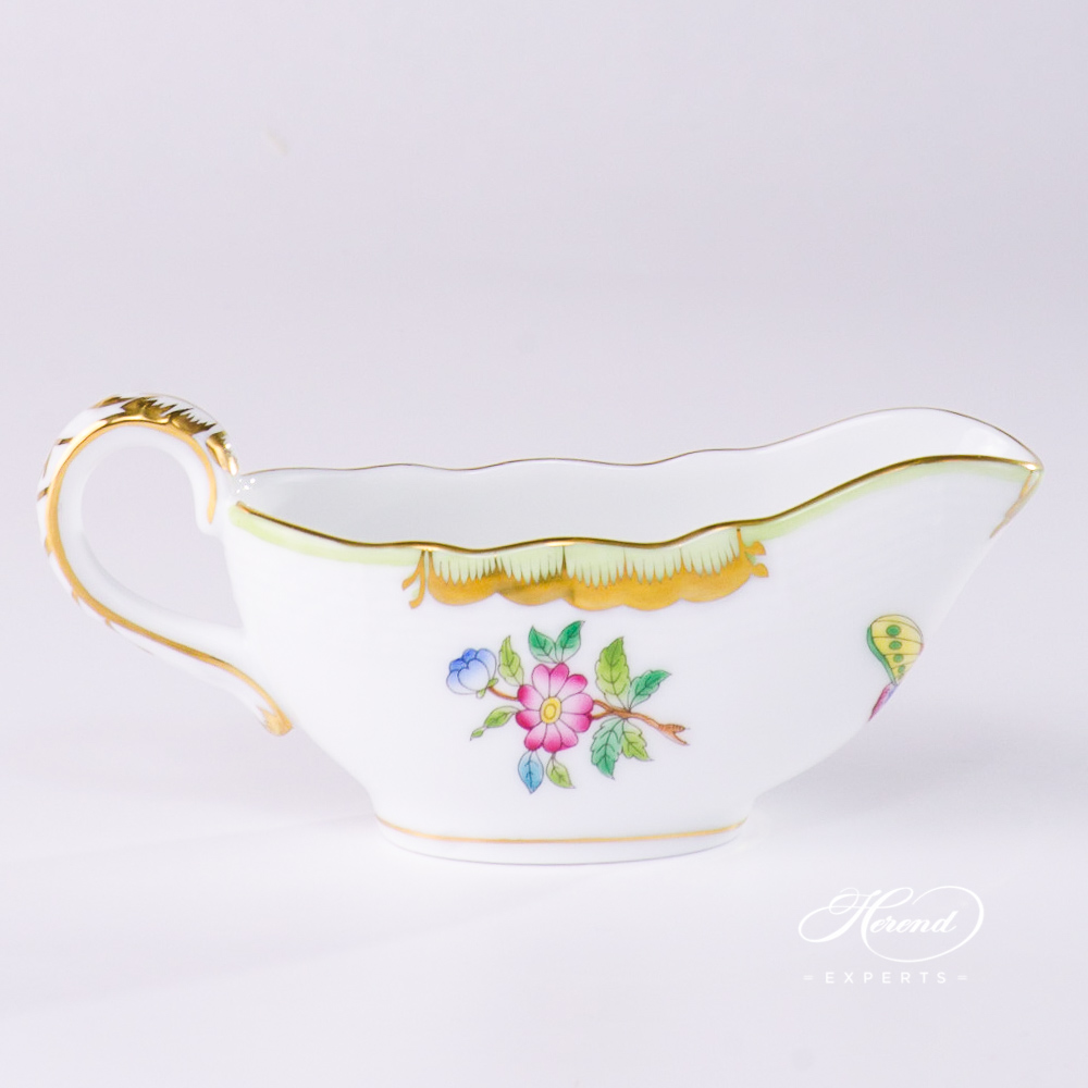 Sauce Boat Queen Victoria VBO pattern - Herend porcelain.