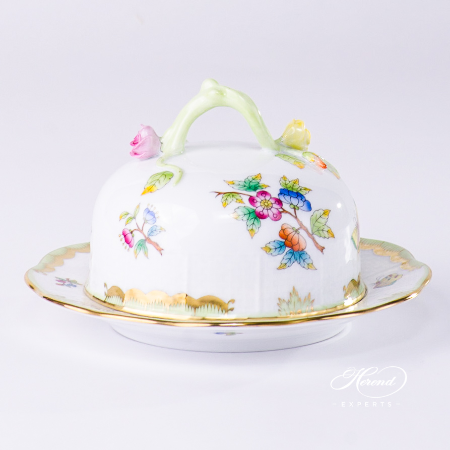 Butter Dish 393-0-02 VBO Queen Victoria design. Herend fine china