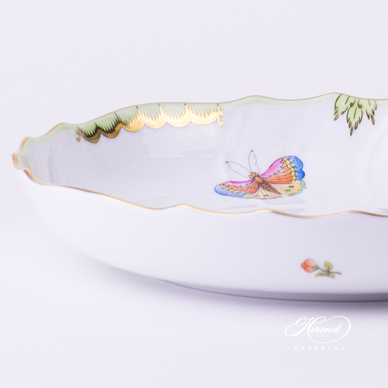 Vegetable Dish 1148-0-00 VBO Queen Victoria multicolor design. Herend fine china tableware. Hand painted
