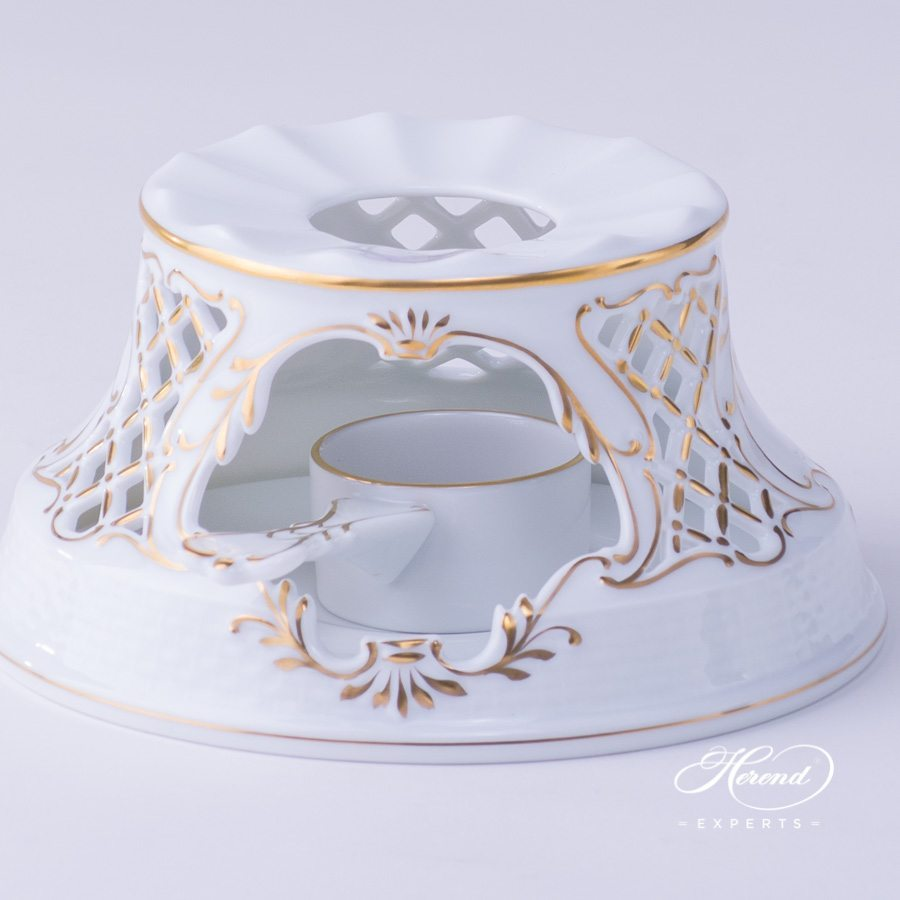 Tea Stove 455-0-00 EVICTP2 Royal Garden Turquoise Butterfly  design. Herend fine china tableware. Hand painted