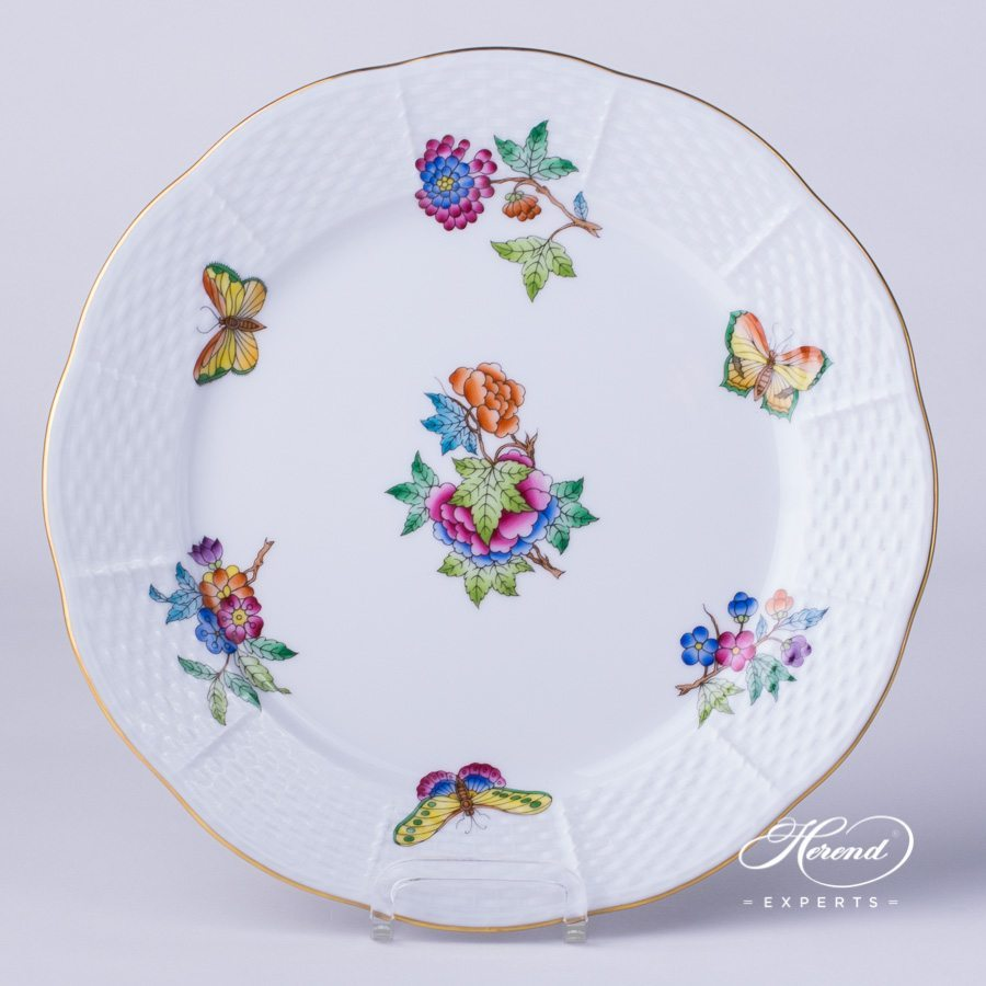Dessert Plate 521-0-00 VA Queen Victoria pattern - Herend fine china.