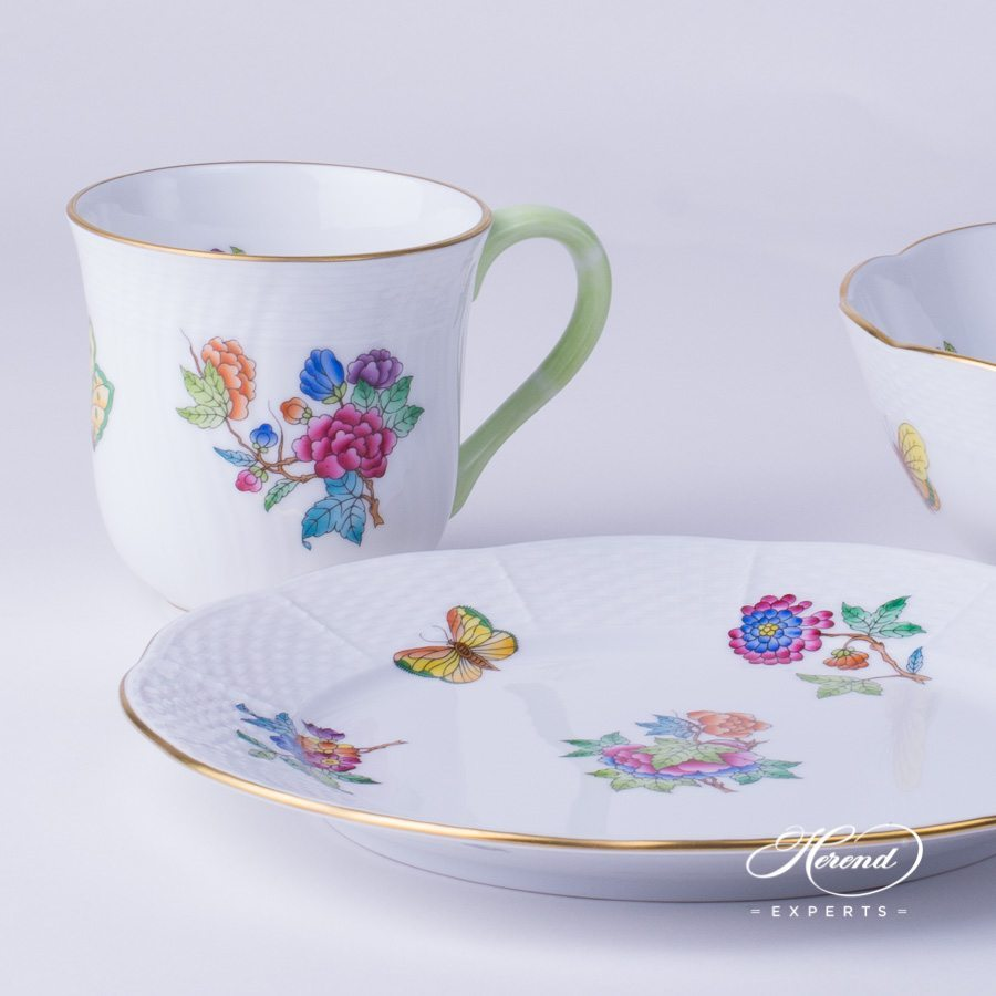 Breakfast Set 3 pieces Queen Victoria VA pattern - Herend fine china