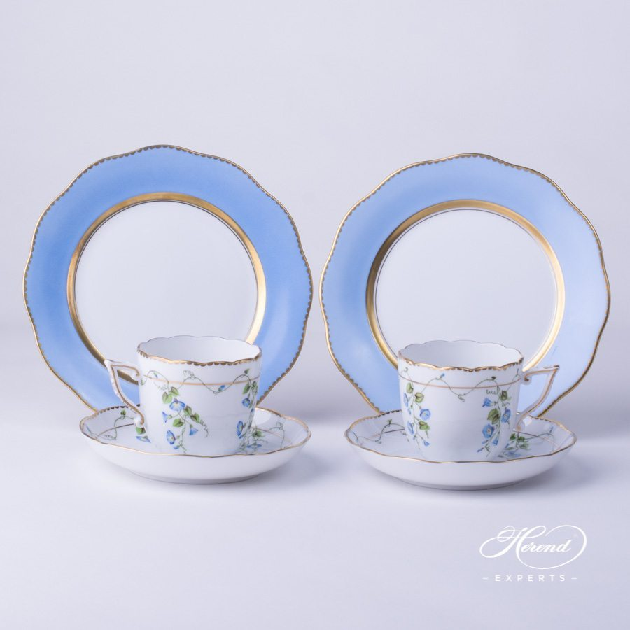 Blue Illusion Gift Set for Couples - Nyon pattern - Herend porcelain.