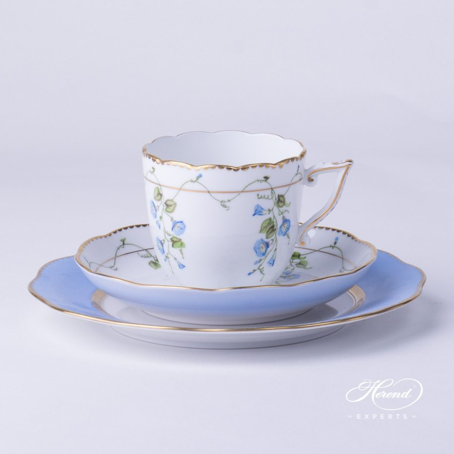 Blue Illusion Gift Set - Nyon pattern - Herend porcelain hand painted.