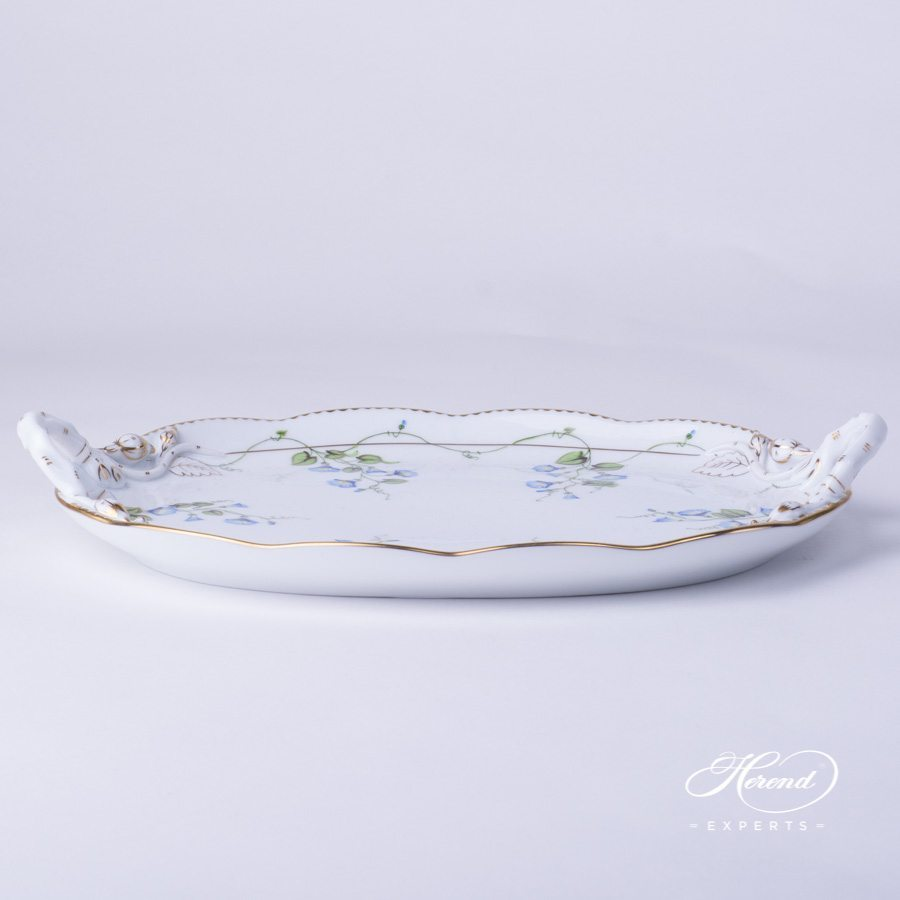 Cake Plate 20412-0-00 NY Nyon / Morning Glory decor. Herend porcelain hand painted