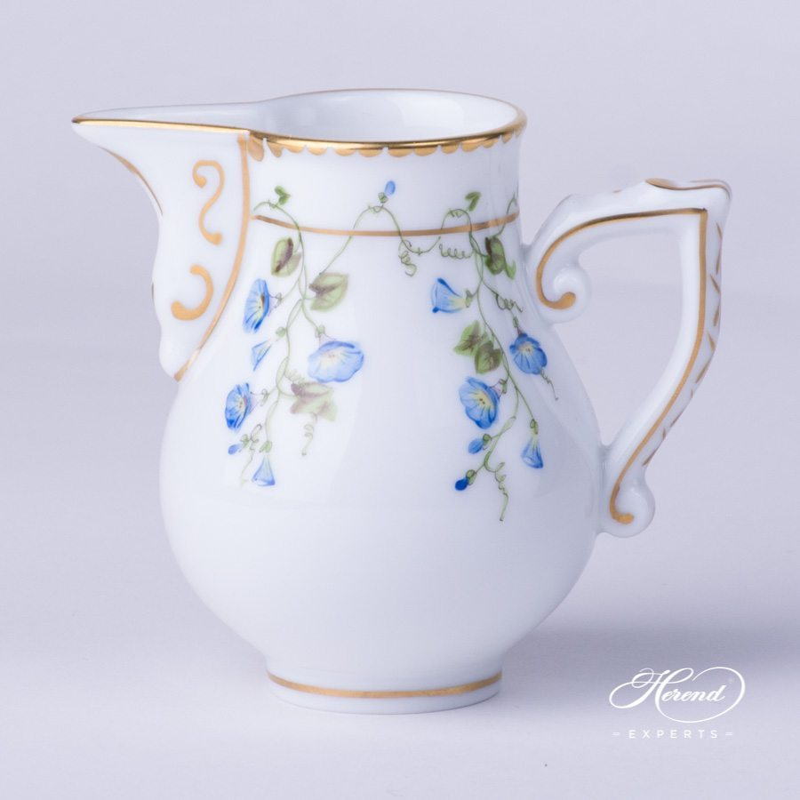 Milk Jug / Creamer 20658-0-00 NY Nyon / Morning Glory Flower pattern. Herend fine china. Hand painted Classic style