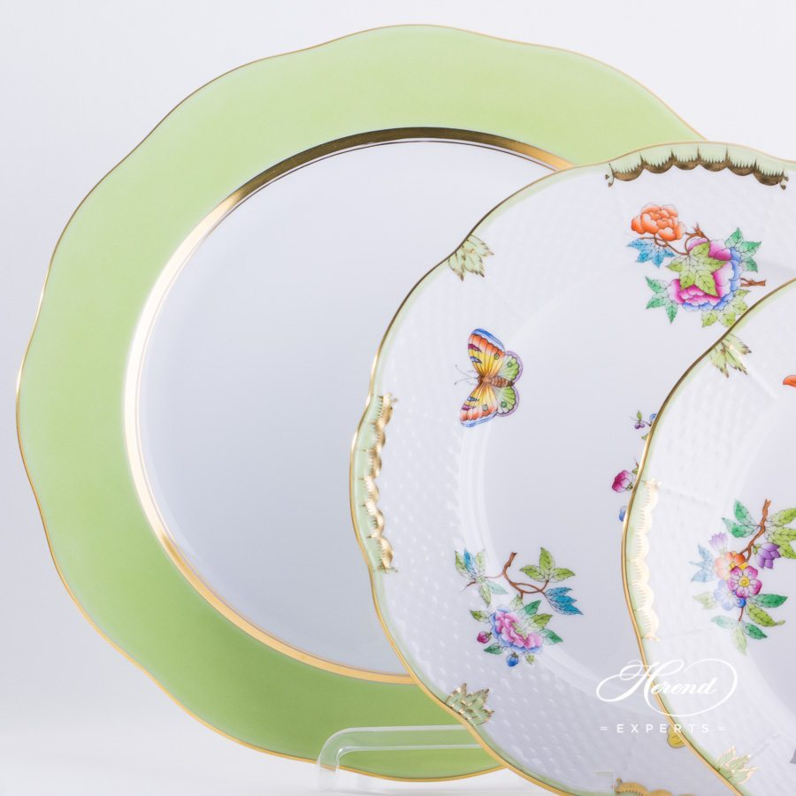Place Setting 4 Piece - Herend Queen Victoria VBA pattern. Herend fine china