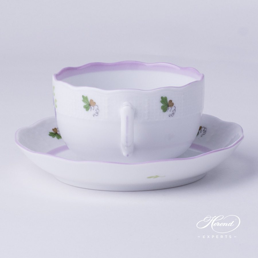 Tea Cup w. Saucer 724-0-00 VRHL Vienna / Viennese Rose Lilac pattern. Herend fine china hand painted