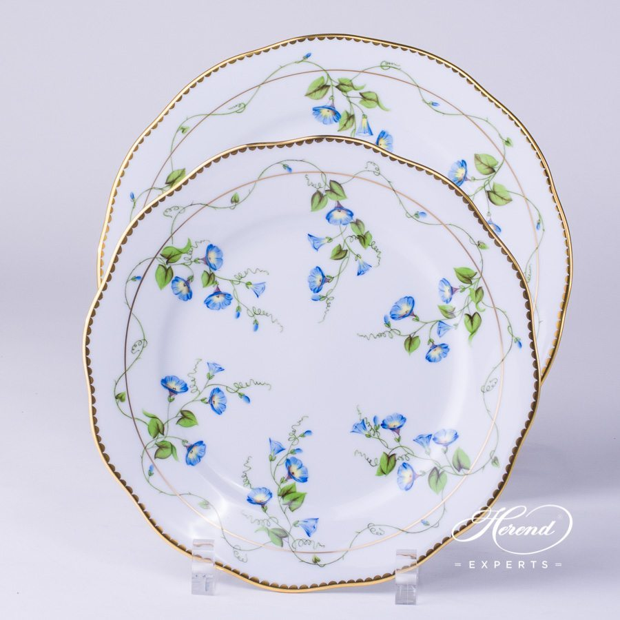 Serving Plate, Dinner Plate with Soup plate Nyon pattern - Herend porcelain