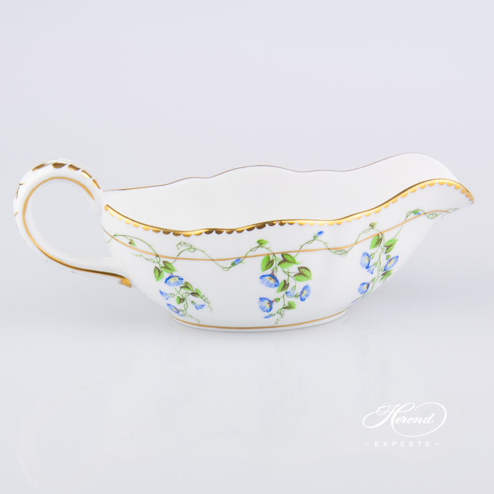 Sauce Boat 20218-0-00 NY Nyon / Morning Glory design. Herend fine china tableware. Hand painted