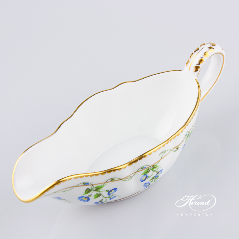 Sauce Boat20218-0-00 NY Nyon / Morning Glory design. Herend fine china tableware. Hand painted