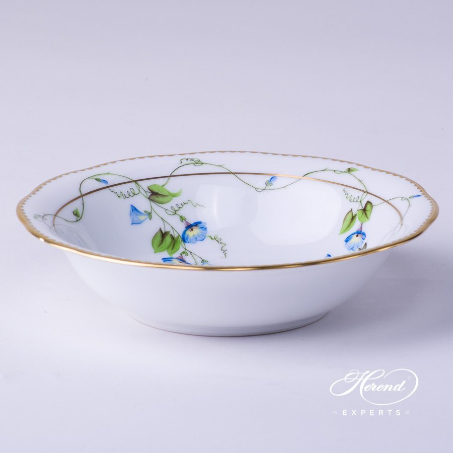 Fruit / Salad Bowl 20330-0-00 NY Nyon / Morning Glory design. Herend fine china tableware. Hand painted
