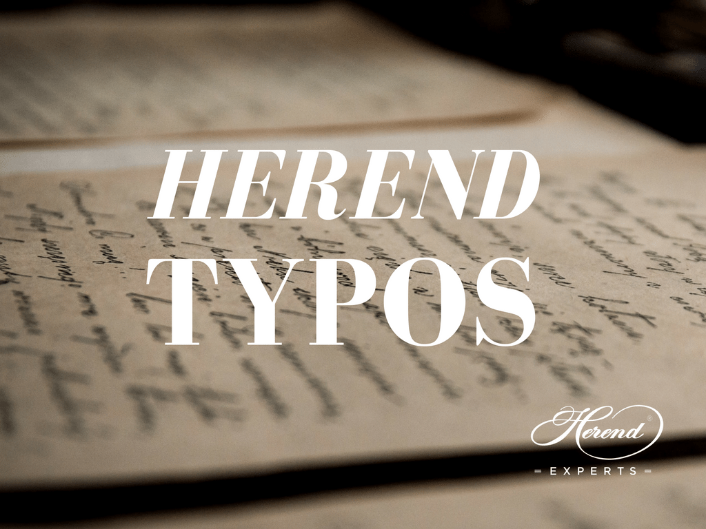 herend typographical errors