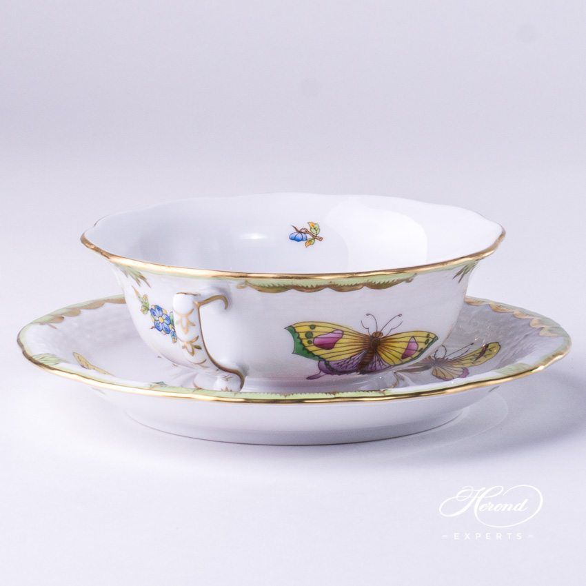 Soup Cup with Saucer 743-0-00 VBO Queen Victoria pattern - Herend porcelain hand painted.