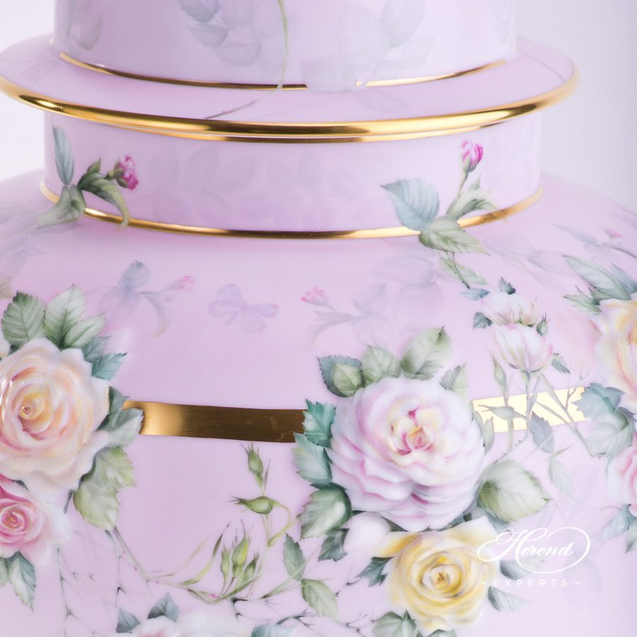 Large Vase - Embossed with Roses 6559-0-91 SP912 Special pattern - Herend porcelain hand painted.