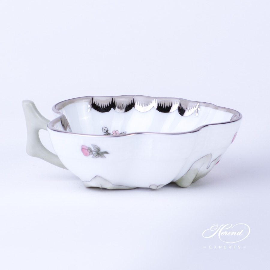 Sugar Bowl 492-0-00 VBOG-X1-PT Queen Victoria Platinum pattern - Herend porcelain hand painted.