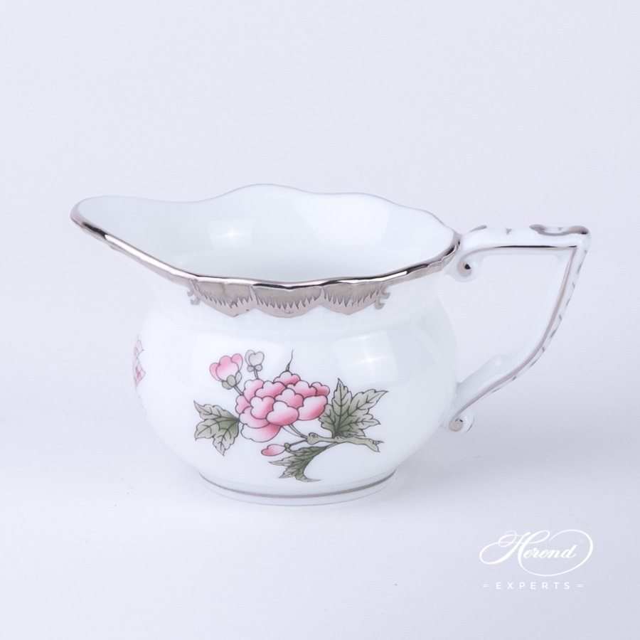 Creamer small 645-0-00 VBOG-X1-PT Queen Victoria Platinum pattern - Herend porcelain hand painted.